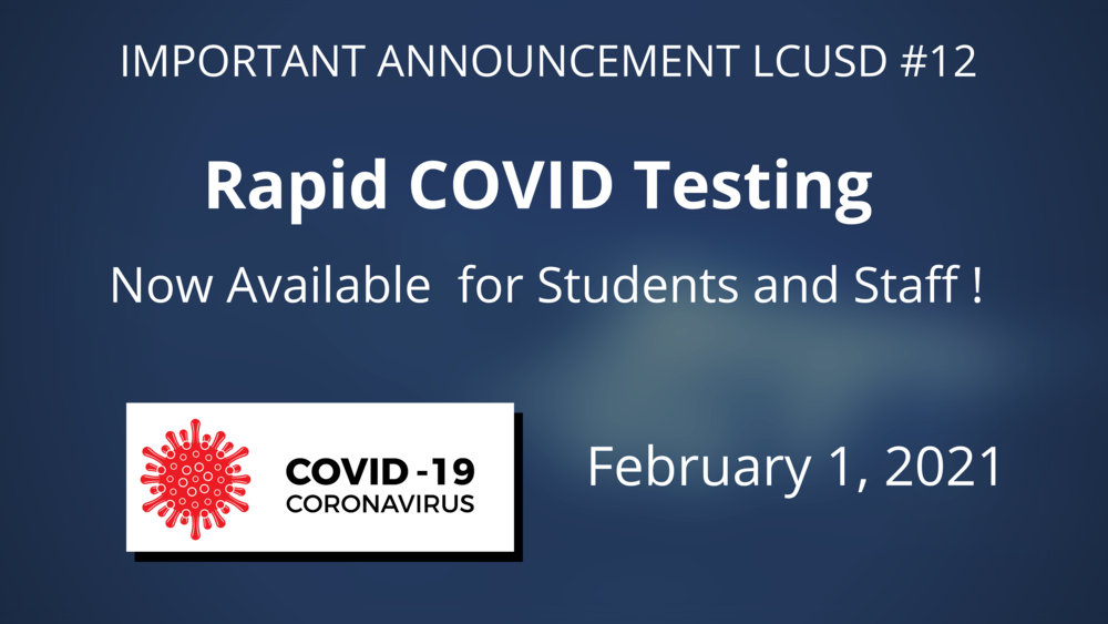 Rapid COVID Testing Now Available for Students and Staff