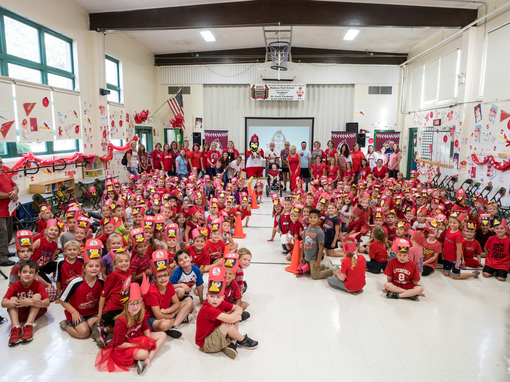 Fredbird and Friends Visit Madison Park Students