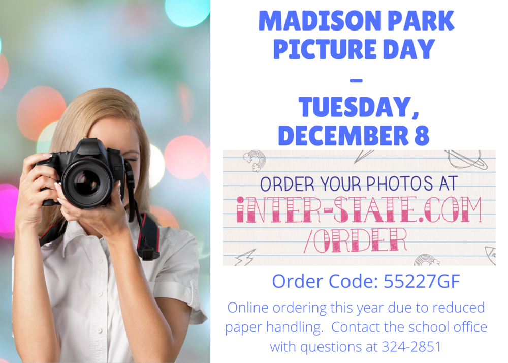 Madison Park Picture Day December 8, 2020