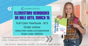 Elementary Yearbooks Now on Sale Through March 15
