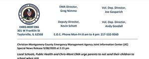 County Emergency Management Agency Press Release For Schools
