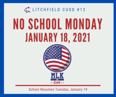 No School Monday January 18, 2021 - MLK Holiday