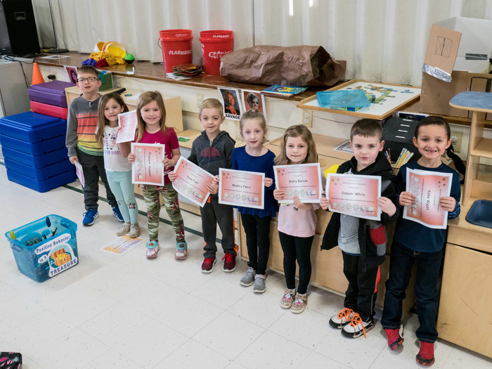 Kindergarten 2nd Trimester Perfect Attendance