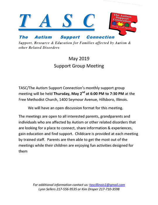 Flyer for Support Group Meetings