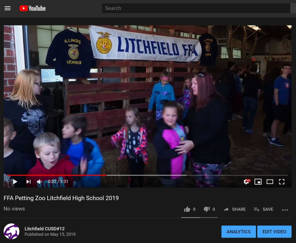 Still image FFA Petting zoo video