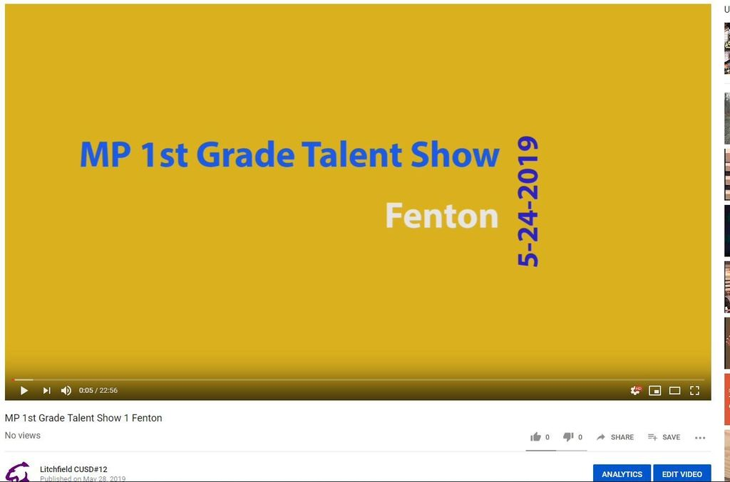 Fenton Talent show image