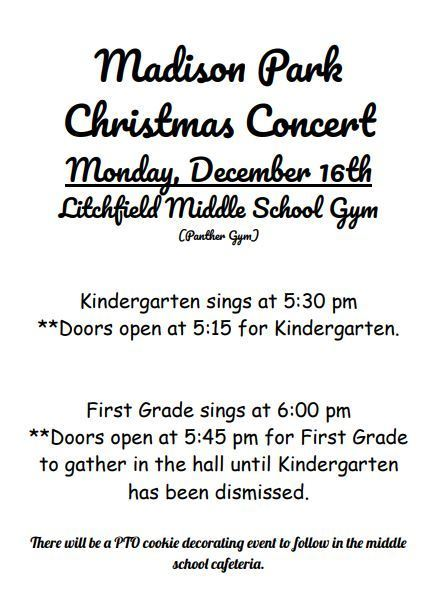 Information regarding mad park christmas program