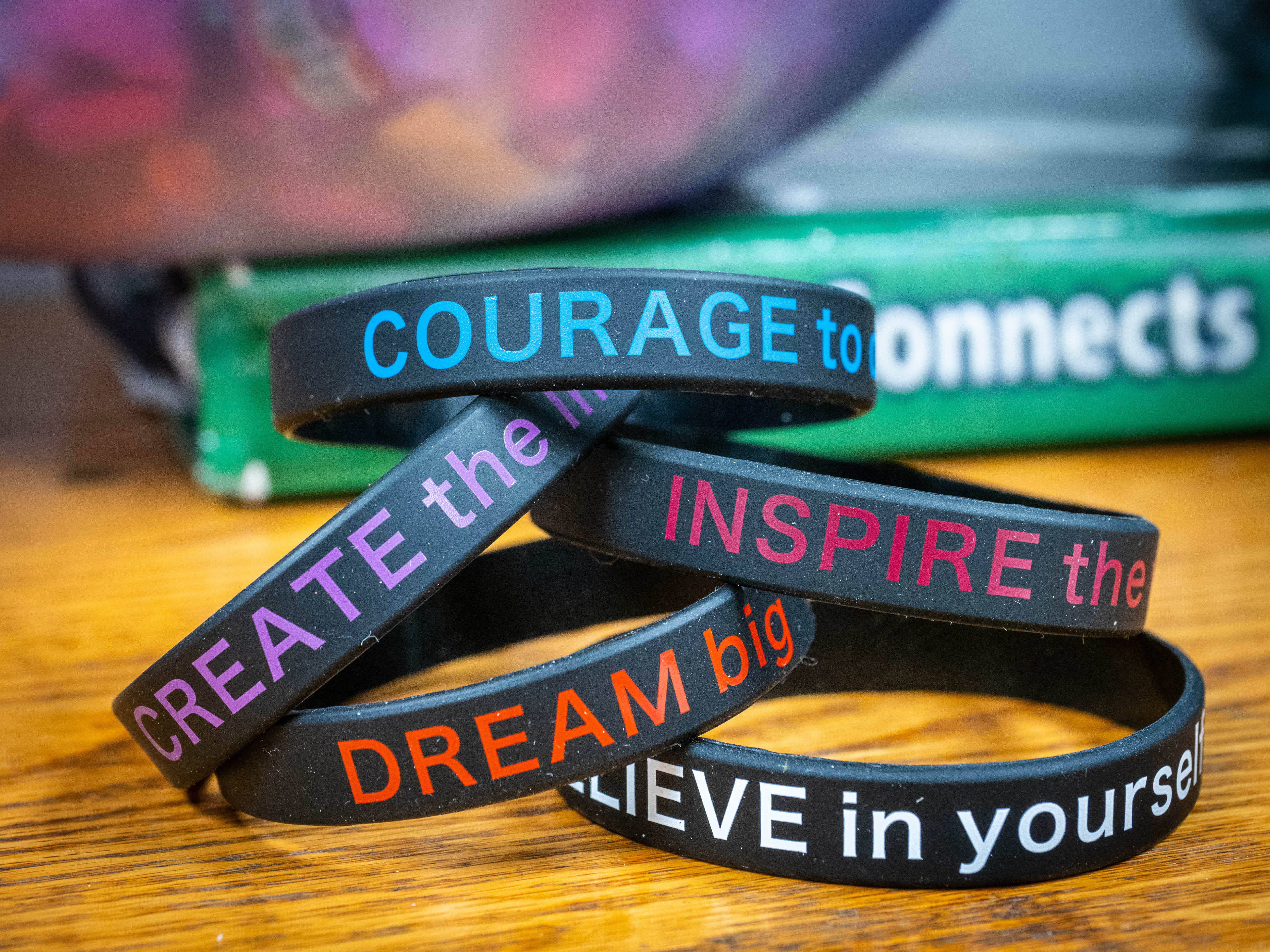 Inspiration bracelets used in the iDream curriculum.
