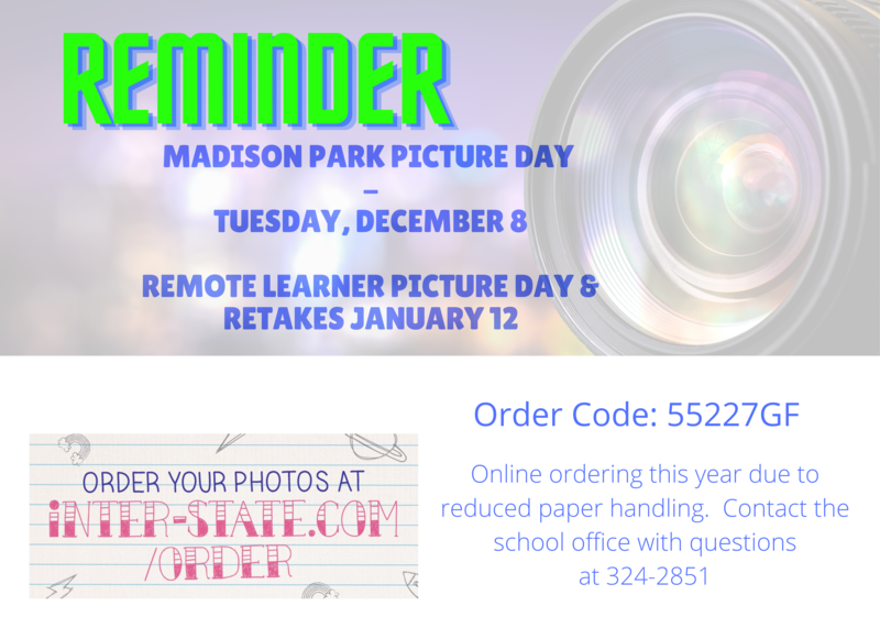 Picture Day, Retake, and Remote Learner Picture Day Info