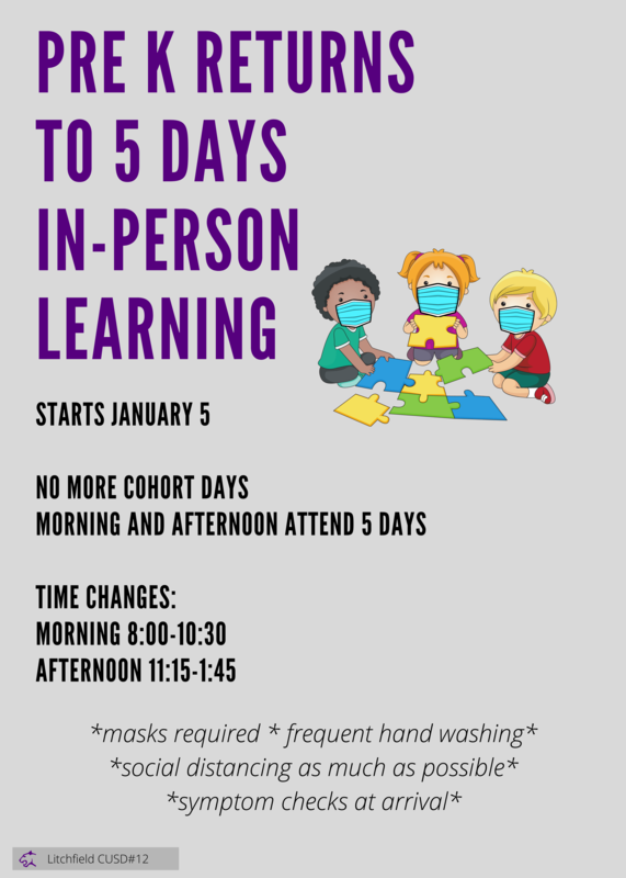 Pre K 5 Days a Week Starting January 5!